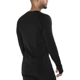 Icebreaker Zone LS Crewe Shirt Herren black/monsoon